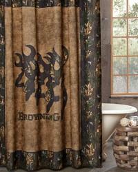 3D Buckmark Shower Curtain by