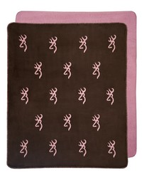 Buckmark Pink Throw by