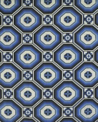 Fornillo Embroidery Mosaic Blue by