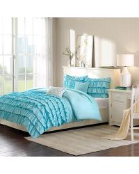 Waterfall 5 Piece Comforter Set Full Queen by