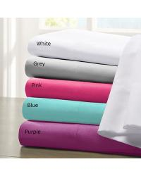 White Microfiber Sheet Set Queen by