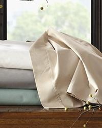 300TC Cotton White Twin Sheet Set by