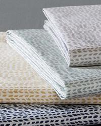 Cotton Printed Twin Sheet Set Aqua by