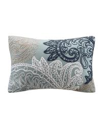 Kiran Embroidered Oblong Pillow by