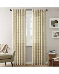 Nikita Ikat Polyester Linen Panel Yellow by