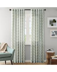 Nikita Ikat Polyester Linen Panel Aqua by