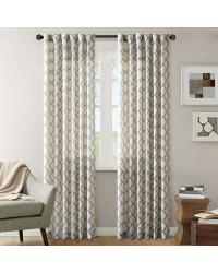 Nikita Ikat Polyester Linen Panel Taupe by