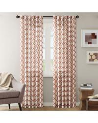 Nikita Ikat Polyester Linen Panel Brick by