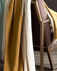 Color Block Throw Taupe by