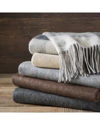 Cashmere Throw Brown by