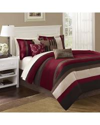 Madison Park Boulder Stripe Comforter Set Queen by