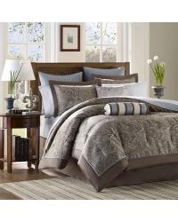 Madison Park Aubrey Comforter Set Queen Blue by