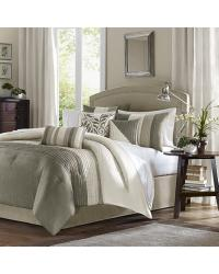 Madison Park Amherst Comforter Set Queen Natural by