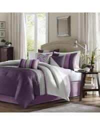 Madison Park Amherst Comforter Set Queen Purple by