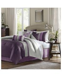Madison Park Amherst Comforter Set Cal King Purple by