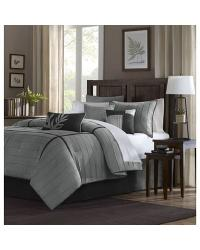 Madison Park Connell Comforter Set Queen Grey by