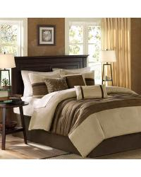 Palmer Comforter Set Queen Brown by