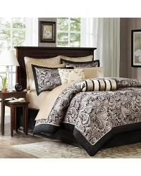 Madison Park Aubrey Comforter Set Queen Black by