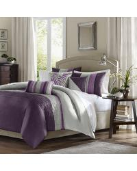 Madison Park Amherst Duvet Cover Set Full Queen Purple by