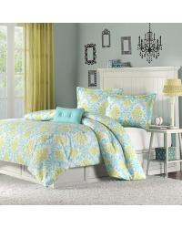 Katelyn Comforter Set Full Queen Blue by