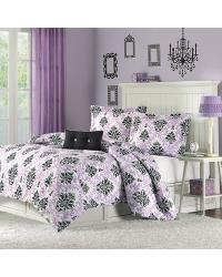 Katelyn Comforter Set Full Queen Purple by