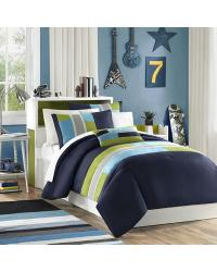 Pipeline Comforter Set Twin TXL Blue by