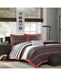 Ashton Grey Comforter Set Full Queen by