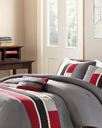 Pipeline Red Comforter Set Full Queen by