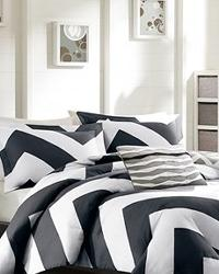 Libra Black and White Comforter Set Full Queen by