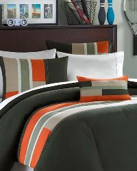 Pipeline Olive Comforter Set King by