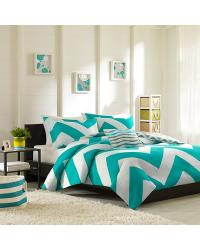 Mizone Libra Duvet Set Full Queen Blue by