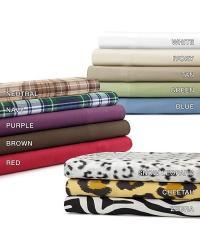 Premier Comfort Cozyspun Sheet Set Cal King Purple by