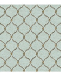 Global Chic Dot Trellis Wallpaper by