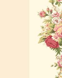Waverly Stripes Norfolk Rose Wallpaper by  Waverly Wallpaper