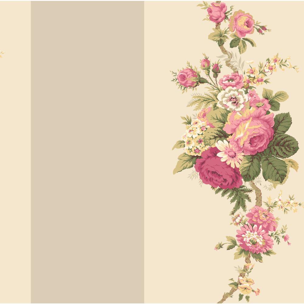 Waverly Stripes Norfolk Rose Wallpaper Waverly Wallpaper