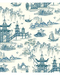 Waverly Classics II Peaceful Temple Removable Wallpaper by