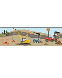 Hard Hat Required Border by  Waverly Wallpaper