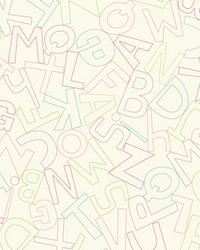 Alphabet Soup Wallpaper by  Waverly Wallpaper