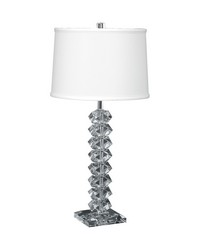 Diamond Cut Crystal Table Lamp by