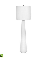 White Obelisk LED Floor Lamp With Night Light by