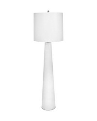 White Obelisk Floor Lamp With Night Light by