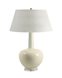 Porcelain Table Lamp In Cream by