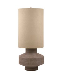 Bisque Ceramic Table Lamp In Taupe by