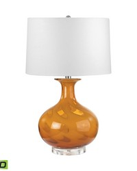 Glass LED Table Lamp In Butterscotch Swirl by