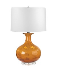 Glass Table Lamp In Butterscotch Swirl by