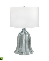 Fluted Mercury Glass LED Table Lamp by