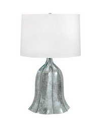 Fluted Mercury Glass Table Lamp by