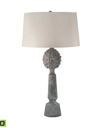 Earthenware Pineapple Top Ceramic LED Table Lamp by
