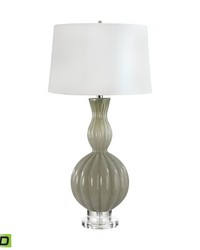 Glass Gourd LED Table Lamp In Taupe by