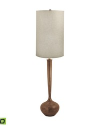 Wooden Tulip LED Floor Lamp by